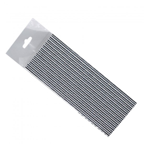 Metalik  Renkli Kağıt Pipet (25 Adet)